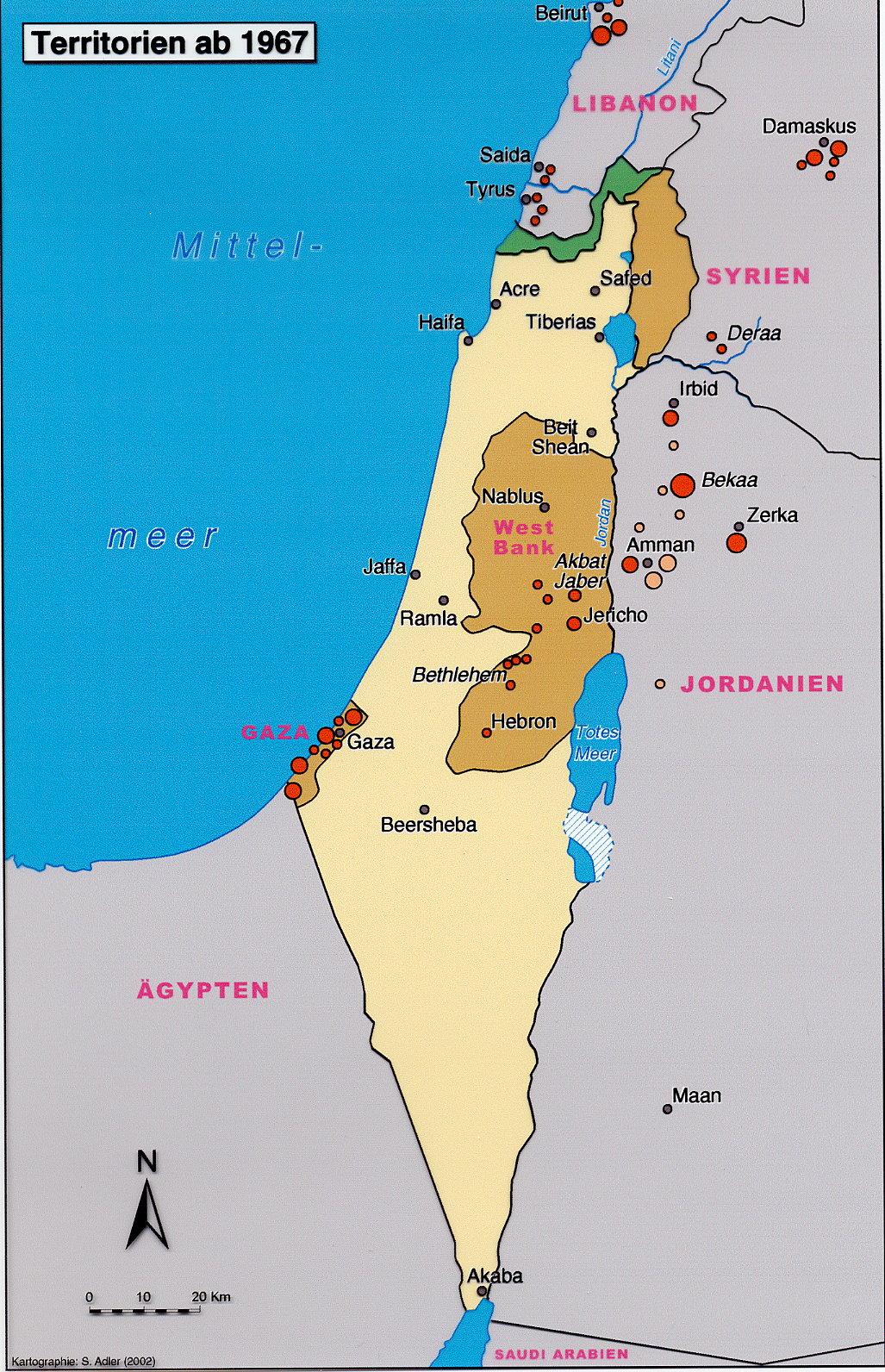 palästina welcher kontinent